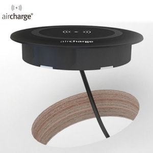 aircharge Desk Qi Wireless Surface Charger - Black