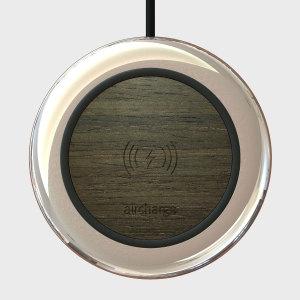 Aircharge Executive Qi Wireless Charging Pad - Ebony / Chrome