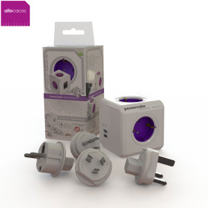 allocacoc World PowerCube Extended USB 4x EU Plug and 2xUSB