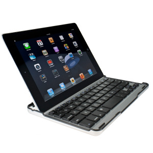 Aluminium Bluetooth Keyboard Stand For Apple iPad 4 / 3 / 2 - Black