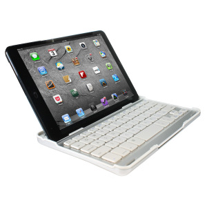 Aluminium Bluetooth Keyboard Stand for iPad Mini 2 / iPad Mini - White