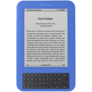 Amazon Kindle Keyboard Silicone Case - Blue