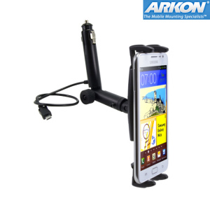Arkon Slim-Grip Micro USB Lighter Socket Mount for Samsung Galaxy S3