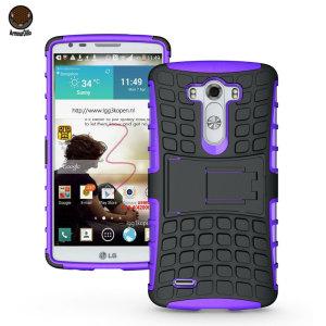 ArmourDillo Hybrid LG G3 Protective Case - Purple
