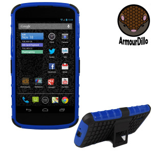ArmourDillo Hybrid Protective Case for Google Nexus 4 - Blue