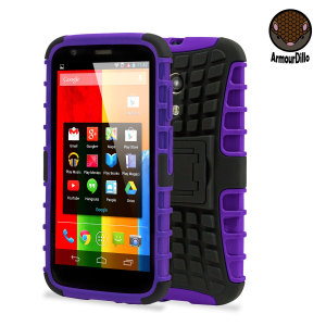 Armourdillo Hybrid Protective Case for Motorola Moto G - Purple