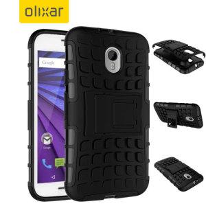 ArmourDillo Motorola Moto G 3rd Gen Protective Case - Black