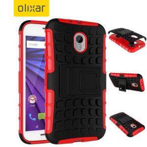 ArmourDillo Motorola Moto G 3rd Gen Protective Case - Red