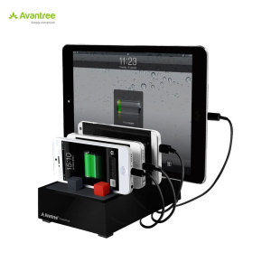 Avantree PowerHouse Desk USB Charging Station - Black - US Mains