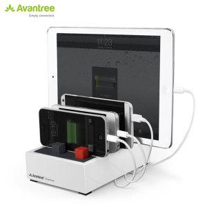Avantree PowerHouse Desk USB Charging Station - White - AU Adapter