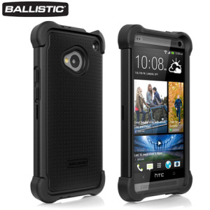 Ballistic Shell Gel Case for HTC One 2013 - Black
