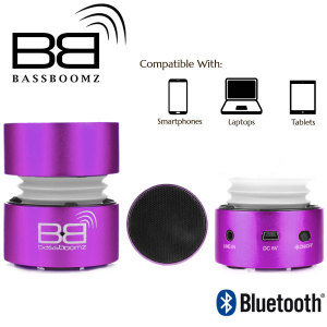 BassBoomz Portable Bluetooth Speaker - Purple