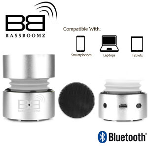 BassBoomz Portable Bluetooth Speaker - Silver