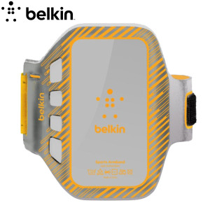 Belkin EaseFit Plus Armband for HTC One M7 - Orange/Grey