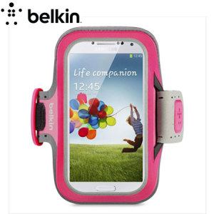 Belkin EaseFit Plus Armband For Samsung Galaxy S4 - Pink