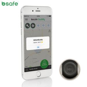 Biisafe Buddy V2 Smart Button Location Tracker Device - Black
