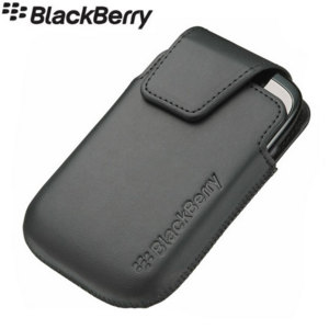 BlackBerry Curve 9320 Leather Swivel Holster - ACC-46596-201 - Black
