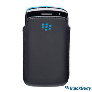 BlackBerry Curve 9350/9360/9370 Pocket Black w/ Sky Blue Liner