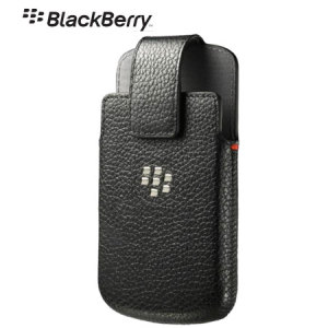 BlackBerry Q10 Leather Swivel Holster - Black - ACC-50879-201