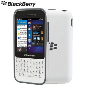 BlackBerry Q5 Premium Shell - ACC-54809-202 - White/Granite Grey