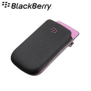 BlackBerry Torch 9800 Leather Pocket Black/Pink ACC-32840-202