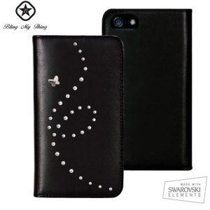 Bling My Thing Mystique Papillon iPhone 5S / 5 Case - Black