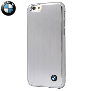 BMW Brushed Aluminium Finish iPhone 6S / 6 Hard Case - Silver