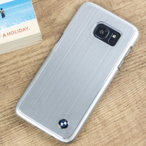 BMW Brushed Aluminium Finish Samsung Galaxy S7 Hard Case - Silver