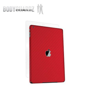 BodyGuardz Carbon Fibre Armor Skin for iPad Air - Red