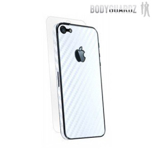 BodyGuardz Carbon Fibre Armor Skin for iPhone 5S / 5 - White