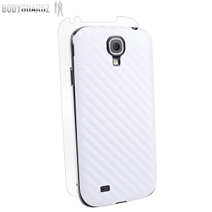 BodyGuardz Carbon Fibre Armor Skin for Samsung Galaxy S4 - White