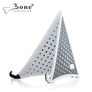 Bone Collection Folding Stand for Apple iPad 4/3/2 - White/Black