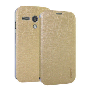 Book Flip and Stand Case for Motorola Moto G - Gold