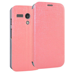 Book Flip and Stand Case for Motorola Moto G - Pink