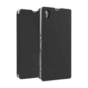 Book Flip and Stand Case for Sony Xperia Z1 - Black