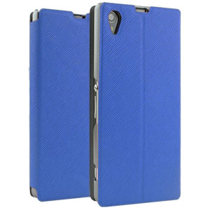 Book Flip and Stand Case for Sony Xperia Z1 - Blue.