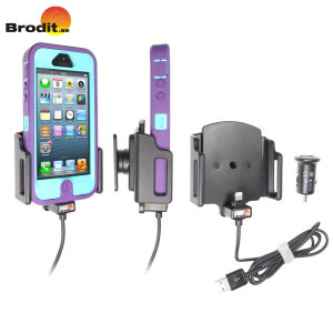 Brodit Active Holder With Tilt Swivel And Cig-Plug for iPhone 5S / 5