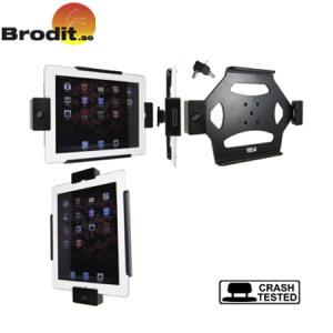 Brodit Wall Mount with Pass Through Connector - iPad 2 / 3