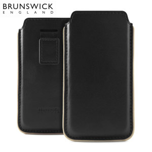 Brunswick Leather Pouch for Apple iPhone 5 / 5S / 5C - Black