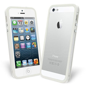 Bumper Case For iPhone 5S / 5 - White / Clear