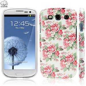 Call Candy Hard Back Samsung Galaxy S3 Case - Pretty Rose Floral