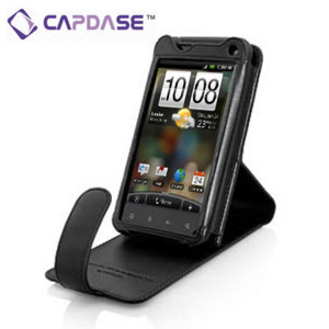 Capdase Leather Flip Case for HTC Incredible S