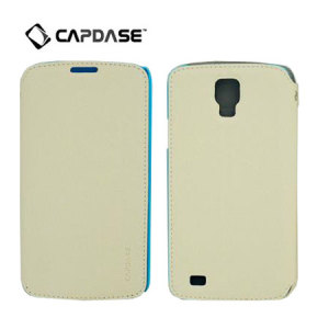 Capdase Sider Baco Folder Case for Galaxy S4 Active - White / Blue