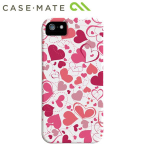 Case-Mate Barely There for iPhone 5S / 5 - White Heart