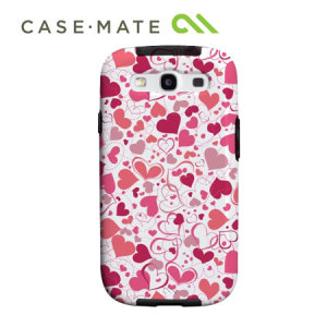 Case-Mate Barely There for Samsung Galaxy S3 - White Heart