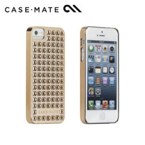 Case-Mate Barely There Studded for iPhone 5/5S - Gold