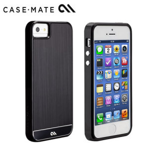 Case-Mate Brushed Aluminium for iPhone 5S/5 - Black/Black