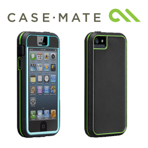 Case-Mate Tough Xtreme Case for iPhone 5/5S - Charcoal/Lime/Pool Blue