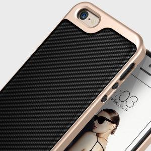 Caseology Envoy Series iPhone SE Case - Carbon Fibre Black