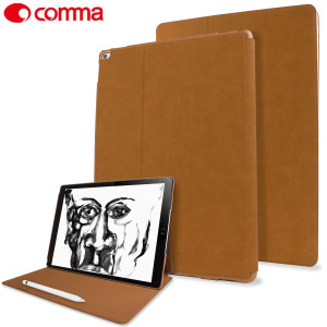 Comma Elegant Series Leather iPad Pro 12.9 inch Case - Brown